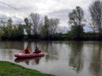 Edirne'de kayıp kişi için Tunca Nehri'nde arama çalışması başlatıldı
