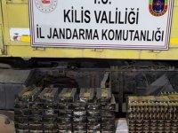 Sınır kapısında, TIR'da 33 bin mermi ele geçirildi