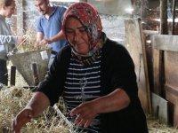 Eşini kaybeden anne, çobanlık yaparak kızını okutuyor