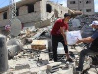 Cansuyu Derneği, abluka altındaki Gazzeli mazlumlara yardım elini uzattı