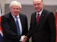 Erdoğan, Johnson ile bir araya geldi