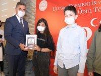 Dünya çocukları ve 23 Nisan yarışması'nın finalistleri ödüllendirildi