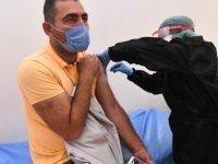 Pursaklar'da Belediye personeline koranavirüs aşısı