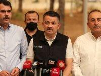 Tarım ve Orman Bakanı Pakdemirli: 57 nokta kontrol altına alındı