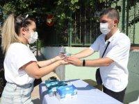 KPSS'ye girenlere maske ve su desteği