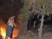 Salihli'de orman yangını; 10 dönüm alan zarar gördü