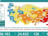 Koronavirüs salgınında günlük vaka sayısı 24 bin 832 oldu