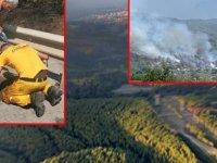 Dörtyol'daki orman yangınında 15 hektar alan zarar gördü