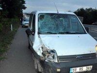 Tekirdağ'da hafif ticari araç, motosiklete çarptı: 1 ölü, 2 yaralı