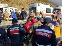 Samsun'da yolcu otobüsü uçuruma yuvarlandı: 2 ölü, 14 yaralı