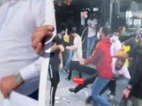 Mecidiyeköy'de 'şoföre şiddete hayır' eylemi