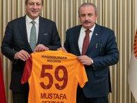 Galatasaray Başkanı Burak Elmas, TBMM Başkanı Şentop'u ziyaret etti