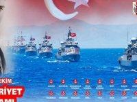 Deniz Kuvvetlerine ait 29 gemiyle 29 limanda Cumhuriyet Bayramı kutlanacak