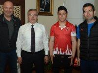 Şampiyondan Selçuk Çetin'e ziyaret