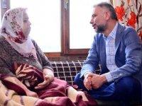 Hasta vatandaşlara moral ziyareti
