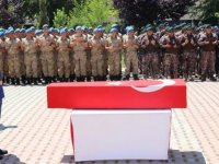 Siirt'te şehit asker için tören
