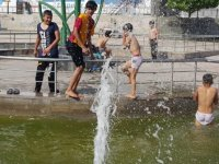 Süs havuzunda tehlikeli eğlence