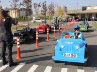 Etimesgut'ta miniklere trafik eğitimi