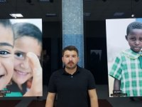 Kızılay Metrosunda Filistinli çocukların fotoğrafları sergileniyor