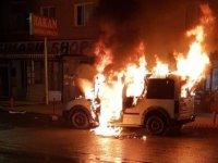 Mamak'ta otomobil yandı