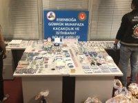 Esenboğa'da kaçak dişçilik malzemesi yakalandı