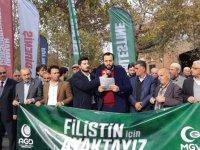 Filistinli şehitler için Hacı Bayram'da gıyabi cenaze