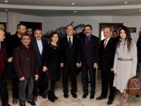 Başkan Tiryaki'ye hemşehrilerinden ziyaret