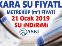 Ankara'da suyun metreküp fiyatı ne kadar? 21 Ocak 2019 su indirimi ASKİ