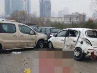 Hasarlı kaza sonrası otomobilin çarptığı baba ve oğlu öldü
