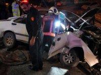 Ankara'da otomobil, 50 metreden uçtu: 2 yaralı