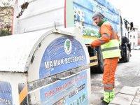 Günde 100 adet konteyner, dezenfekte ediliyor