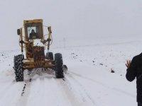 Nisan ayında ulaşıma kar engeli