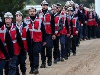 Gençler atalarının izinde Conkbayırı'na yürüyor