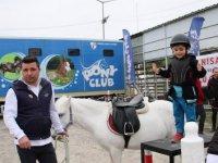 Çocuklar Pony'leri sevdi