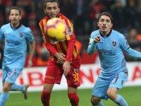 Trabzonspor ile Kayserispor 44. randevuda