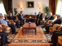 Demokrat Parti'den Mansur Yavaş'a ziyaret
