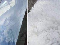 Ankara'yı dolu vurdu: Araçların camı kırıldı