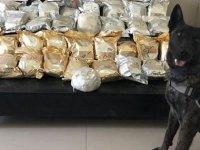 Polisin durdurduğu araçta 59 kilo eroin çıktı