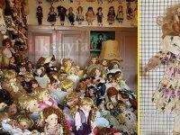 'Taş Bebek Kafe'de 8 bin 700 porselen bebek sergileniyor