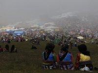Trabzonlular Kadırga Yaylası'nda eğlendi