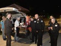 Mamak Belediyesi'nden güvenlik görevlilerine çorba ikramı