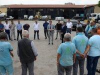 Pursaklar Belediye Başkanı Ertuğrul Çetin personel ile bayramlaştı