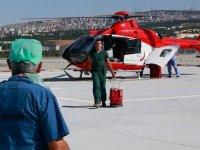 Ankara Şehir Hastanesine ambulans helikopterle ilk organ transferi