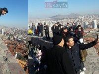 Ankara Kalesi'ndeki surlara korkuluk