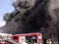 İkitelli'de fabrika yangını