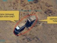 PKK/PYD-YPG'li teröristlere mühimmat ikmali yapan kamyonet böyle vuruldu