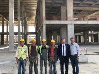 ANKAMOB yönetim kurulu Başkent Uluslararası Fuar Alanı inşaatını gezerek incelemelerde bulundu