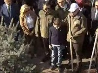 Cumhurbaşkanı Erdoğan da fidan dikti