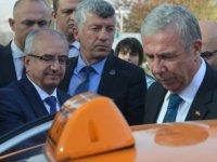 """Başkent'te """"Akıllı taksi"""" projesi Büyükşehir Belediye Başkanı Mansur Yavaş tarafından tanıtıldı"""