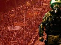 Atina'da gergin gece
